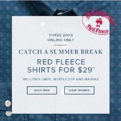 Brooks Brothers: Red Fleece Shirts for US$29