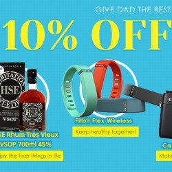 Rakuten.com.sg: 10% OFF Storewide to Celebrate Father's Day