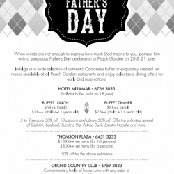 Peach Garden: Father's Day Promotion