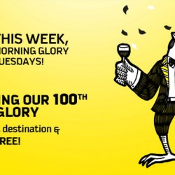 Scoot: 100th Morning Glory, So it's 100% off your Return Fare!