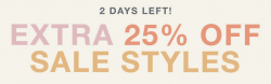 Shopbop: Extra 25% Off Sales Items