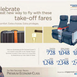 NEW premium economy class promotion @ Singapore Airlines