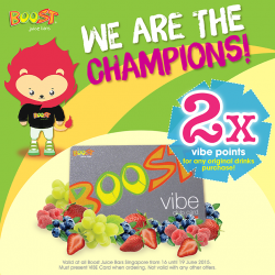 Boost Juice: Grab original size Boost to earn double VIBE points