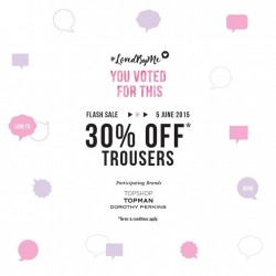 F3 Flash Sale: Trousers go on sale at 30% off