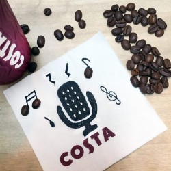 Costa Coffee: Receive a medio sized beverage when you sing, rap or recite the Costa rhyme to Costa Coffee baristas
