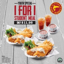 The Manhattan FISH MARKET: 1 for 1 Student Meal