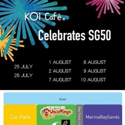 KOI Café: National Day firework rehearsal @KOI great tea!