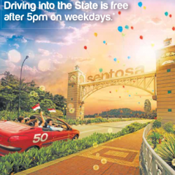 Sentosa: Driving into the state is free after 5pm on weekdays