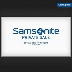 Samsonite: Exclusive Private Sale