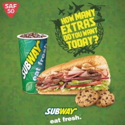Subway: SAF personnel can enjoy a free meal upgrade