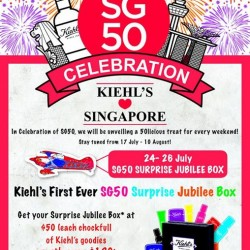 Kiehl's: first ever Surprise Jubilee Box @ 50-licious treats