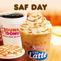 Dunkin' Donuts: SAF Day 50% off promotion
