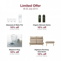 Muji:10% Off For Selected Household Item