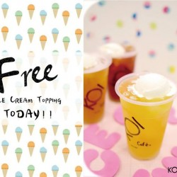 KOI Café: Free Ice Cream Topping on every Wednesday with KOI Card