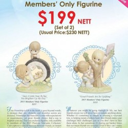 "Precious Thots: Joy of friendship set letter""o""&""Y""fegurine@S$199 nett/set only."