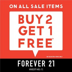 Forever 21: Buy 2 Get 1 Free All Sale Items --- Final Round