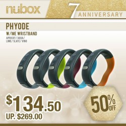 nübox 7th anniversary special: Phyode W/ME Wristband now at only S$134.50! (UP $269)