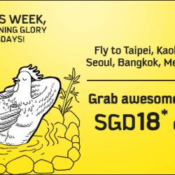 Scoot: Morning Glory Tuesdays Fares from SGD18 onwards
