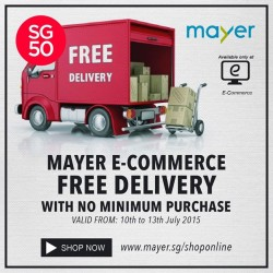 Mayer: Free shipping with no minimum purchase