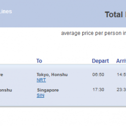 CheapTickets.sg: Direct return flights from Singapore to Tokyo now from $488