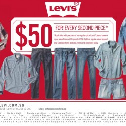 Levi's: S$50 for Every Second Piece