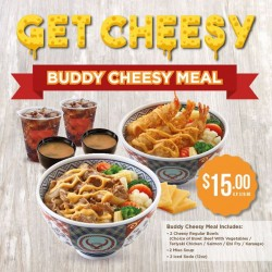 Yoshinoya: delicious creamy cheese sauce@ $15(U.P $19)