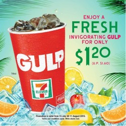 7-Eleven: Gulp beverage for $1.20 only (UP: $1.60)