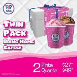 Baskin-Robbins:FREE foam box when you purchase eithpints er 2 or quarts of ice cream!