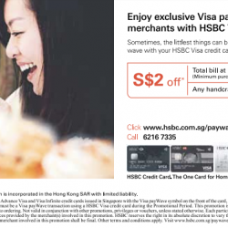 HSBC: Exclusive Visa payWave offers