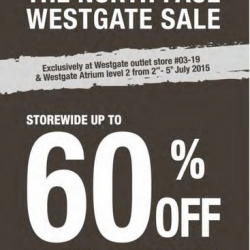 The North Face: Westgate Sale Up to 60% Off + Extra 10% Off for Sales Items
