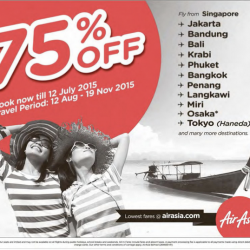 AirAsia: 75% Off Travel Fares