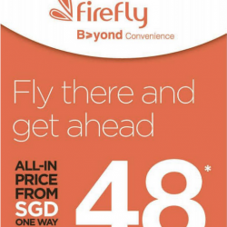 FireFly: All-in One-way Fares From SGD48