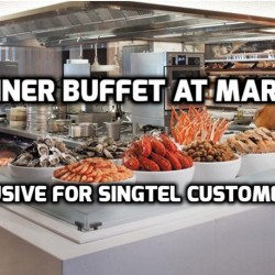 Singtel Rewards: 1-for-1 Dinner Buffet at Marriott Cafe