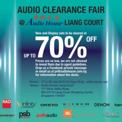 Audio House Liang Court‏: Audio Clearance Fair Up to 70% OFF
