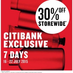 Body Shop Citibank Card Exclusive: 30% OFF Storewide