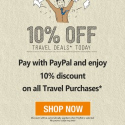 Deal.com.sg 10% travel category while pay with paypal