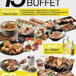 Sakae Sushi: S$15 All You Can Eat Buffet