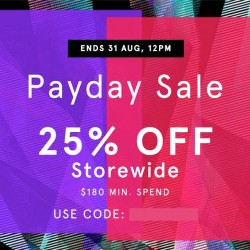 Zalora: Payday sale up to 25% OFF Storewide!
