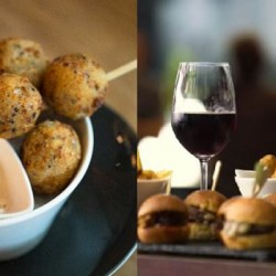 Artisan Boulangerie Co: Mushroom Risotto Balls, Wagyu Beef Sliders and selection of craft beers and boutique wines