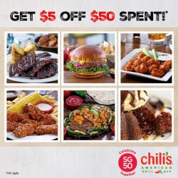 Chili's: $50 Spent & get $5 Off