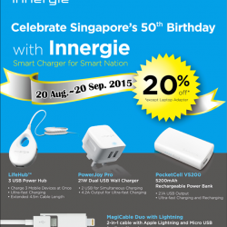 nübox: 20% off for Innergie products including USB Hubs, wall charger, powerbank and cables