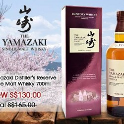The Oaks Cellars: Yamazaki Distiller's Reserve Single Malt Whisky 700ml at S$130 (U.P S$165)