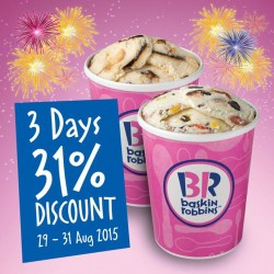 Baskin-Robbins: 3 Days 31% Discount BR Baskin-Robbins