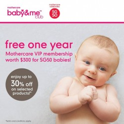 Mothercare: Free 1 Year Mothercare VIP membership worth $300