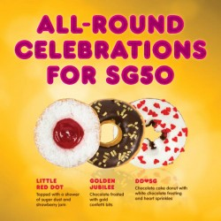 Dunkin' Donuts: cappuccinos purchase of 6 or 12 donuts @get 50% OFF