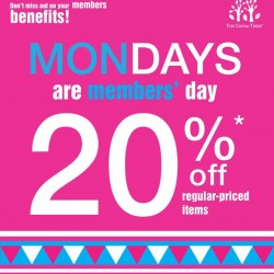 The Cocoa Trees: get up to 20% off regular-priced items on Mondays