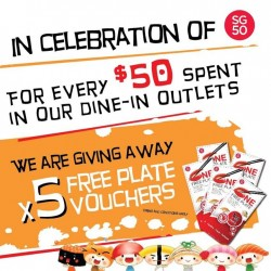 Sushi Express: Spent $50 in Dine-In outlets & Get 5 pcs of Vouchers