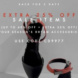 FORZIERI: Extra 25% off Sale is Back for 3 Days