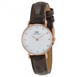 eBay: Daniel Wellington Classy York Eggshell White Dial Brown Leather ladies 0902DW
