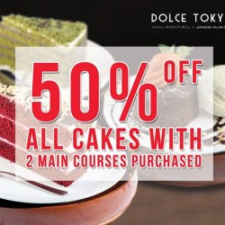 Dolce Tokyo: 50% off all cakes with 2 main courses purchased